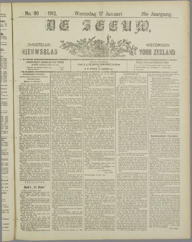 De Zeeuw. Christelijk-historisch nieuwsblad voor Zeeland 1912-01-17