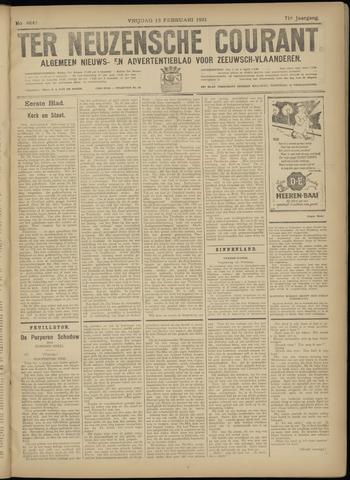 Ter Neuzensche Courant. Algemeen Nieuws- en Advertentieblad voor Zeeuwsch-Vlaanderen / Neuzensche Courant ... (idem) / (Algemeen) nieuws en advertentieblad voor Zeeuwsch-Vlaanderen 1931-02-13