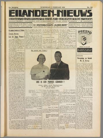 Eilanden-nieuws. Christelijk streekblad op gereformeerde grondslag 1938-02-02