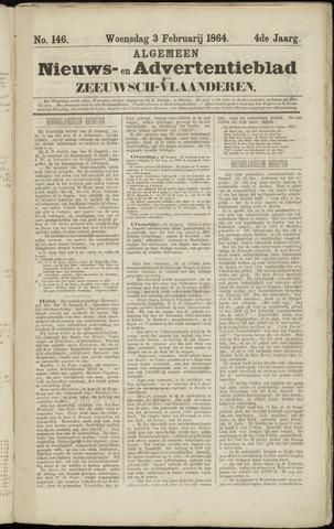 Ter Neuzensche Courant. Algemeen Nieuws- en Advertentieblad voor Zeeuwsch-Vlaanderen / Neuzensche Courant ... (idem) / (Algemeen) nieuws en advertentieblad voor Zeeuwsch-Vlaanderen 1864-02-03