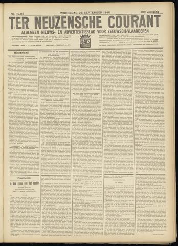 Ter Neuzensche Courant. Algemeen Nieuws- en Advertentieblad voor Zeeuwsch-Vlaanderen / Neuzensche Courant ... (idem) / (Algemeen) nieuws en advertentieblad voor Zeeuwsch-Vlaanderen 1940-09-25