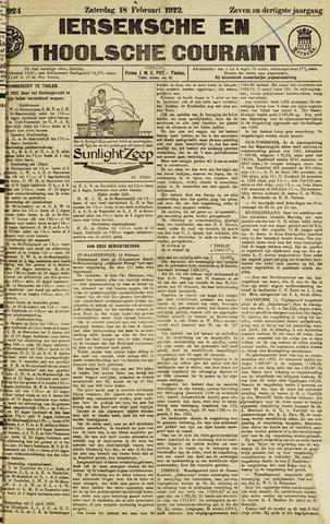 Ierseksche en Thoolsche Courant 1922-02-18
