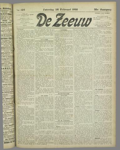 De Zeeuw. Christelijk-historisch nieuwsblad voor Zeeland 1921-02-26
