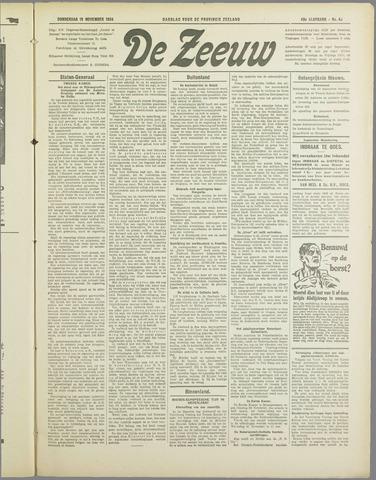 De Zeeuw. Christelijk-historisch nieuwsblad voor Zeeland 1934-11-15