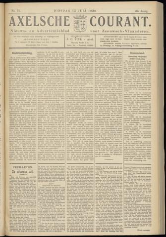 Axelsche Courant 1930-07-15