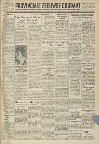 Provinciale Zeeuwse Courant 1947-11-18