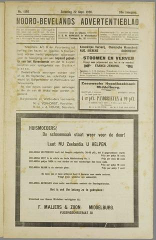 Noord-Bevelands Nieuws- en advertentieblad 1928-09-22