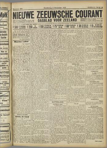 Nieuwe Zeeuwsche Courant 1922-11-02