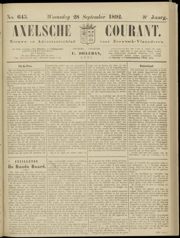 Axelsche Courant 1892-09-28