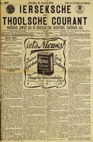 Ierseksche en Thoolsche Courant 1912-01-13