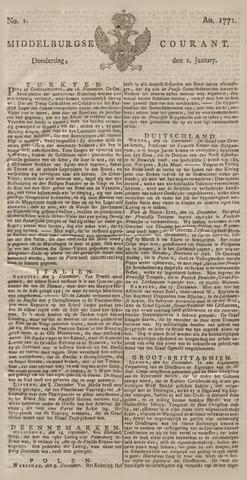 Middelburgsche Courant 1772
