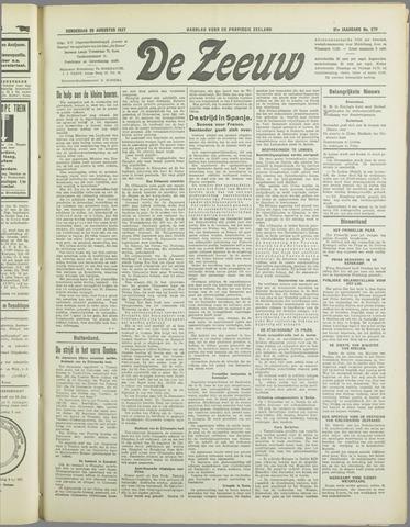De Zeeuw. Christelijk-historisch nieuwsblad voor Zeeland 1937-08-26