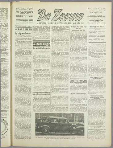 De Zeeuw. Christelijk-historisch nieuwsblad voor Zeeland 1937-12-22