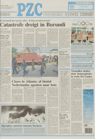 Provinciale Zeeuwse Courant 1996-07-25
