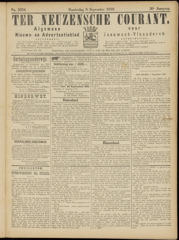 Ter Neuzensche Courant. Algemeen Nieuws- en Advertentieblad voor Zeeuwsch-Vlaanderen / Neuzensche Courant ... (idem) / (Algemeen) nieuws en advertentieblad voor Zeeuwsch-Vlaanderen 1910-09-08