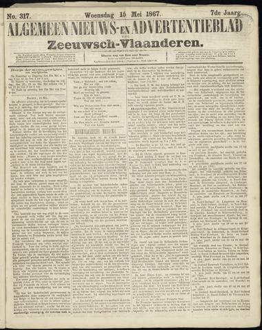 Ter Neuzensche Courant. Algemeen Nieuws- en Advertentieblad voor Zeeuwsch-Vlaanderen / Neuzensche Courant ... (idem) / (Algemeen) nieuws en advertentieblad voor Zeeuwsch-Vlaanderen 1867-05-15