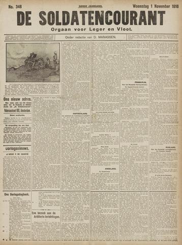 De Soldatencourant. Orgaan voor Leger en Vloot 1916-11-01