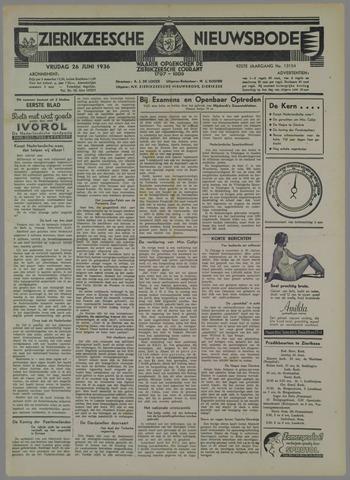 Zierikzeesche Nieuwsbode 1936-06-26