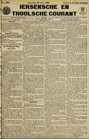 Ierseksche en Thoolsche Courant 1923-06-23
