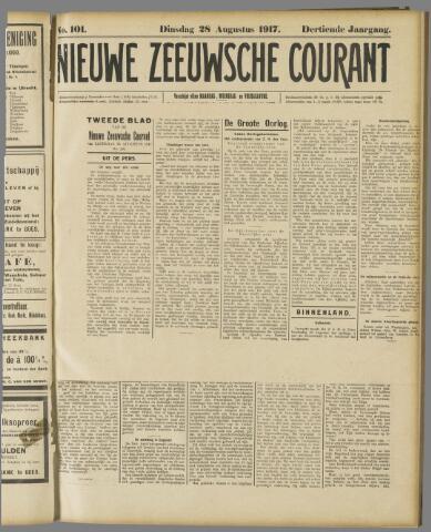 Nieuwe Zeeuwsche Courant 1917-08-28