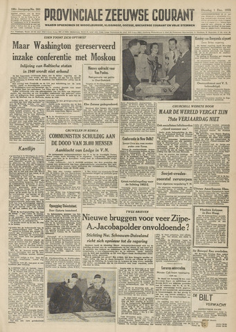 Provinciale Zeeuwse Courant 1953-12-01