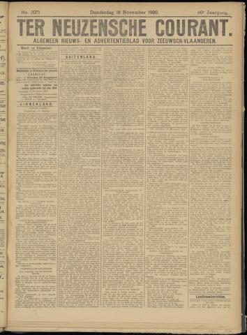 Ter Neuzensche Courant. Algemeen Nieuws- en Advertentieblad voor Zeeuwsch-Vlaanderen / Neuzensche Courant ... (idem) / (Algemeen) nieuws en advertentieblad voor Zeeuwsch-Vlaanderen 1920-11-18