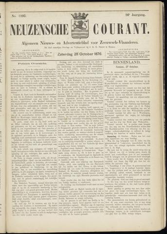 Ter Neuzensche Courant. Algemeen Nieuws- en Advertentieblad voor Zeeuwsch-Vlaanderen / Neuzensche Courant ... (idem) / (Algemeen) nieuws en advertentieblad voor Zeeuwsch-Vlaanderen 1876-10-28