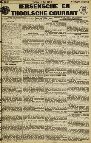 Ierseksche en Thoolsche Courant 1924-07-04