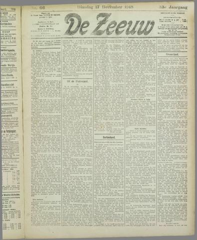 De Zeeuw. Christelijk-historisch nieuwsblad voor Zeeland 1918-12-17