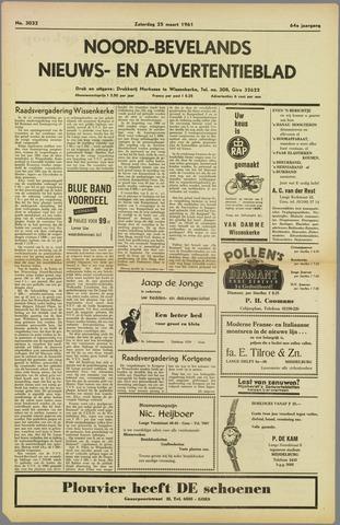 Noord-Bevelands Nieuws- en advertentieblad 1961-03-25