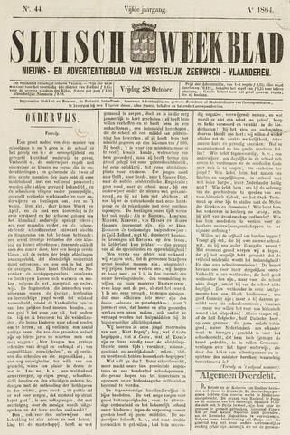 Sluisch Weekblad. Nieuws- en advertentieblad voor Westelijk Zeeuwsch-Vlaanderen 1864-10-28