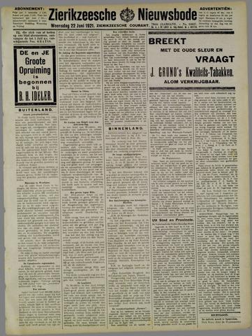 Zierikzeesche Nieuwsbode 1921-06-22
