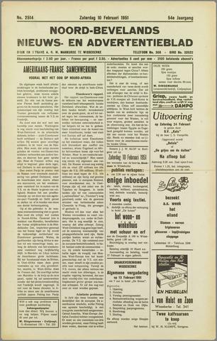 Noord-Bevelands Nieuws- en advertentieblad 1951-02-10
