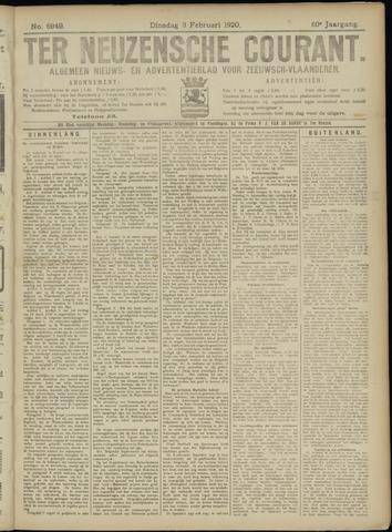 Ter Neuzensche Courant. Algemeen Nieuws- en Advertentieblad voor Zeeuwsch-Vlaanderen / Neuzensche Courant ... (idem) / (Algemeen) nieuws en advertentieblad voor Zeeuwsch-Vlaanderen 1920-02-03