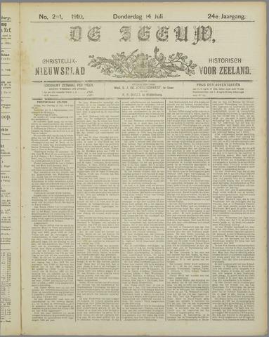 De Zeeuw. Christelijk-historisch nieuwsblad voor Zeeland 1910-07-14