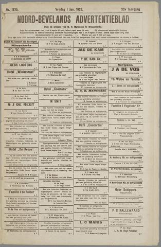Noord-Bevelands Nieuws- en advertentieblad 1926