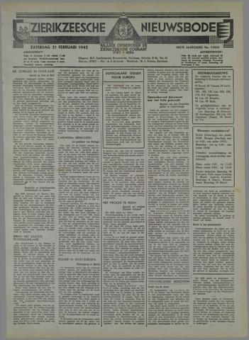 Zierikzeesche Nieuwsbode 1942-02-21