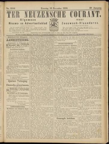 Ter Neuzensche Courant. Algemeen Nieuws- en Advertentieblad voor Zeeuwsch-Vlaanderen / Neuzensche Courant ... (idem) / (Algemeen) nieuws en advertentieblad voor Zeeuwsch-Vlaanderen 1910-12-10