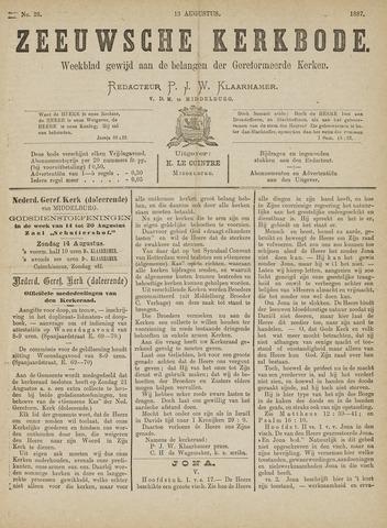 Zeeuwsche kerkbode, weekblad gewijd aan de belangen der gereformeerde kerken/ Zeeuwsch kerkblad 1887-08-13