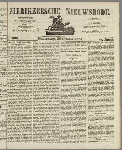 Zierikzeesche Nieuwsbode 1851-10-30