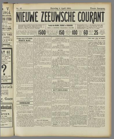 Nieuwe Zeeuwsche Courant 1914-04-04