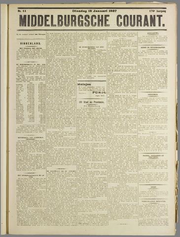 Middelburgsche Courant 1927-01-18