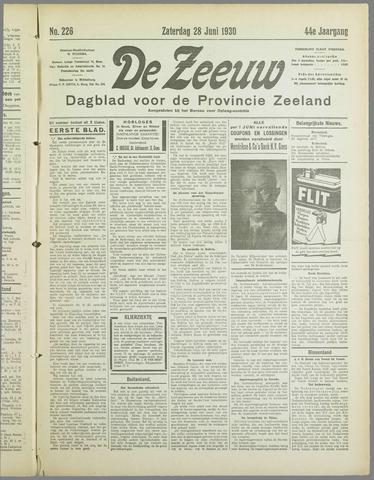 De Zeeuw. Christelijk-historisch nieuwsblad voor Zeeland 1930-06-28