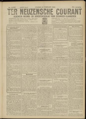 Ter Neuzensche Courant. Algemeen Nieuws- en Advertentieblad voor Zeeuwsch-Vlaanderen / Neuzensche Courant ... (idem) / (Algemeen) nieuws en advertentieblad voor Zeeuwsch-Vlaanderen 1942-02-27