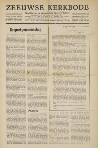 Zeeuwsche kerkbode, weekblad gewijd aan de belangen der gereformeerde kerken/ Zeeuwsch kerkblad 1955-11-18