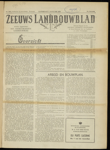 Zeeuwsch landbouwblad ... ZLM land- en tuinbouwblad 1956