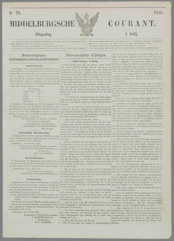 Middelburgsche Courant 1854-07-04