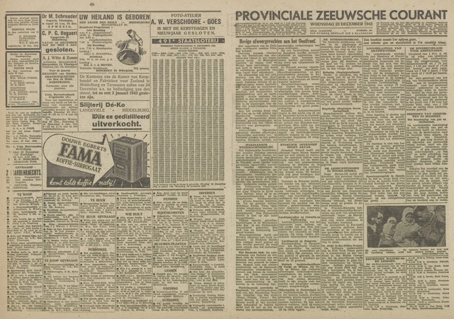 Provinciale Zeeuwse Courant 1942-12-23