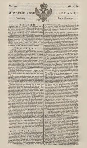 Middelburgsche Courant 1764-02-02