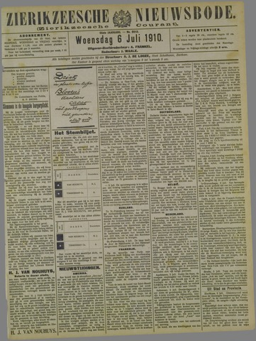 Zierikzeesche Nieuwsbode 1910-07-06